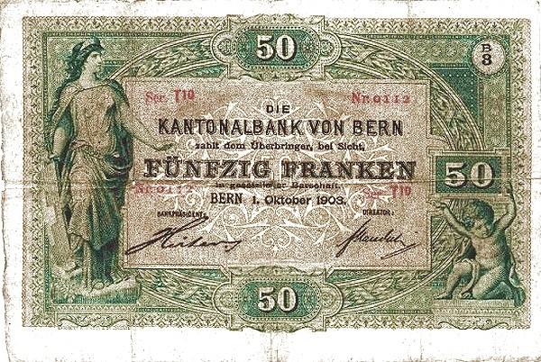 Switzerland 50 Franken (1883-1910)
