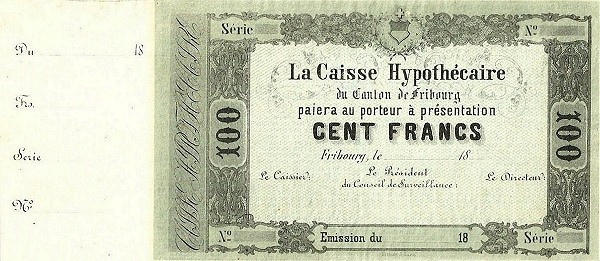 Switzerland 100 Francs (1856)