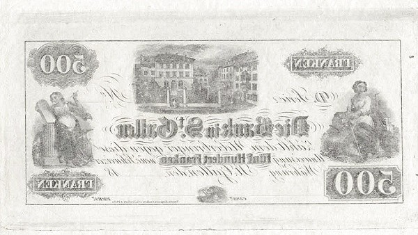 Switzerland 500 Franken (1852)