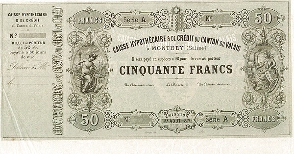 Switzerland 50 Francs (1871)