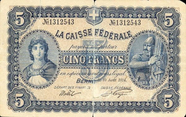 Switzerland 5 Francs (1914)