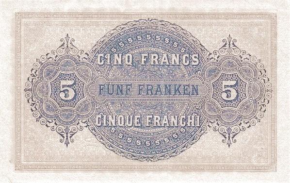Switzerland 5 Franchi (1914)