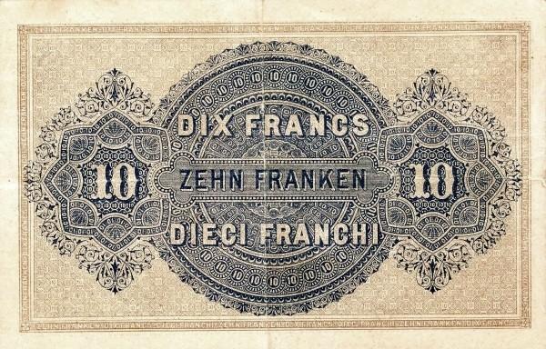Switzerland 10 Franken (1914)