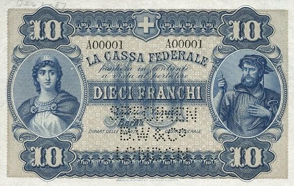 Switzerland 10 Franchi (1914)