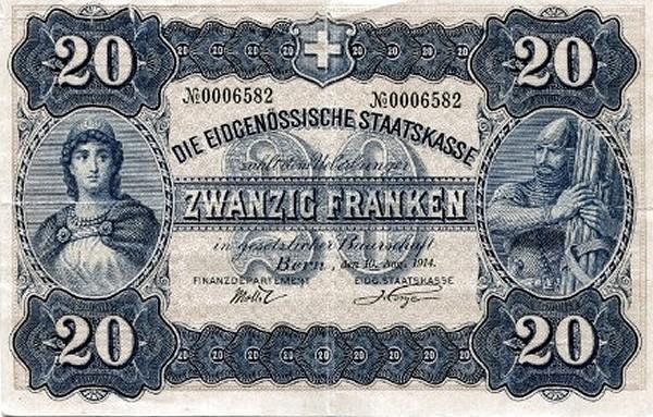 Switzerland 20 Franken (1914)