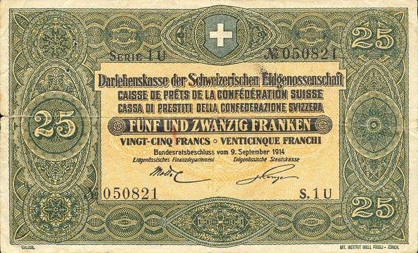 Switzerland 25 Franken (1914)
