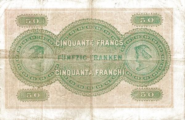 Switzerland 50 Franken (1907)