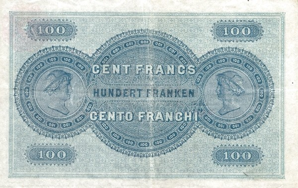 Switzerland 100 Franken (1907)