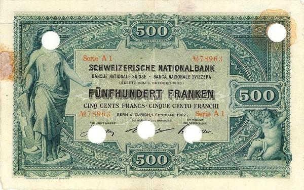 Switzerland 500 Franken (1907)