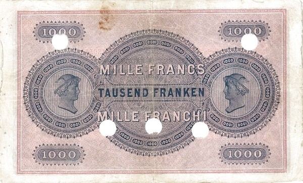 Switzerland 1000 Franken (1907)