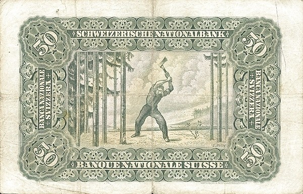 Switzerland 50 Franken (1910-1920)