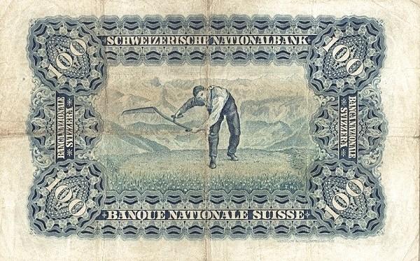 Switzerland 100 Franken (1910-1920)