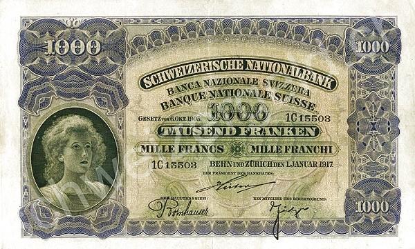Switzerland 1000 Franken (1910-1920)