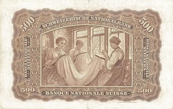 Switzerland 500 Franken (1910-1920)