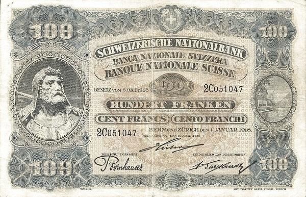 Switzerland 100 Franken (1918)