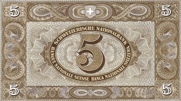 Switzerland 5 Franken (1911-1952)