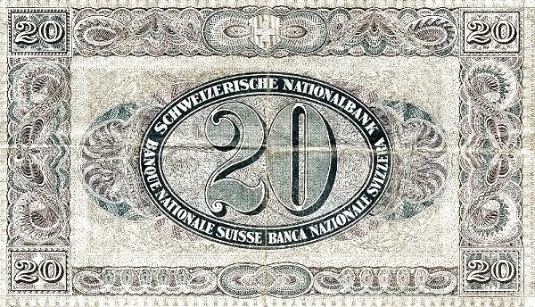 Switzerland 20 Franken (1922-1923)