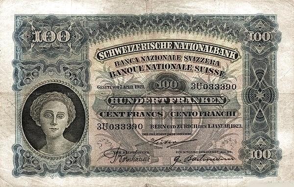 Switzerland 100 Franken (1922-1923)