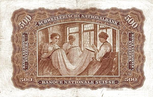 Switzerland 500 Franken (1922-1923)