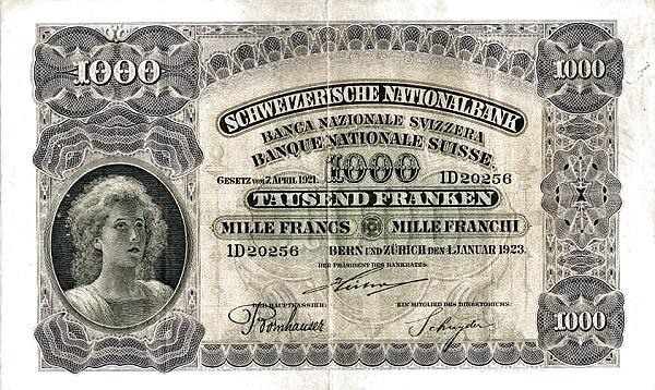 Switzerland 1000 Franken (1922-1923)