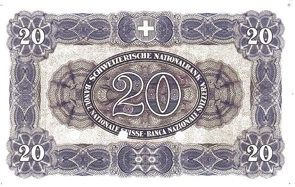 Switzerland 20 Franken (1923)