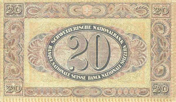 Switzerland 20 Franken (1923-1929)