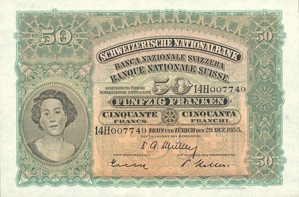 Switzerland 50 Franken (1923-1955)
