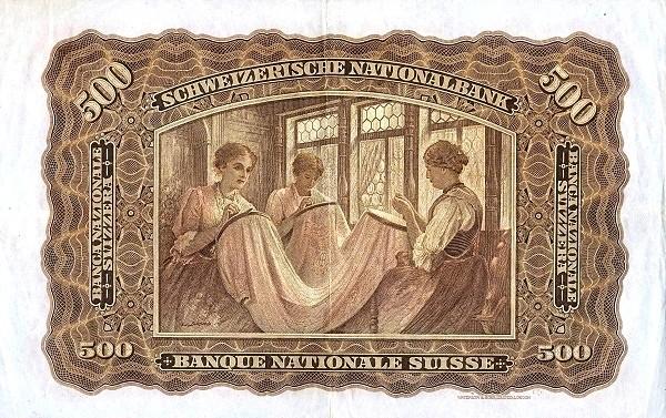 Switzerland 500 Franken (1923-1955)