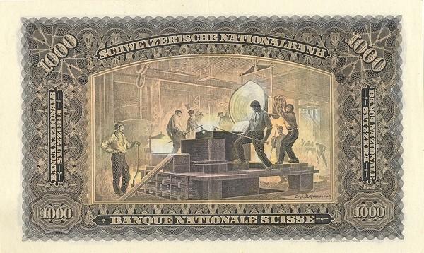 Switzerland 1000 Franken (1923-1955)