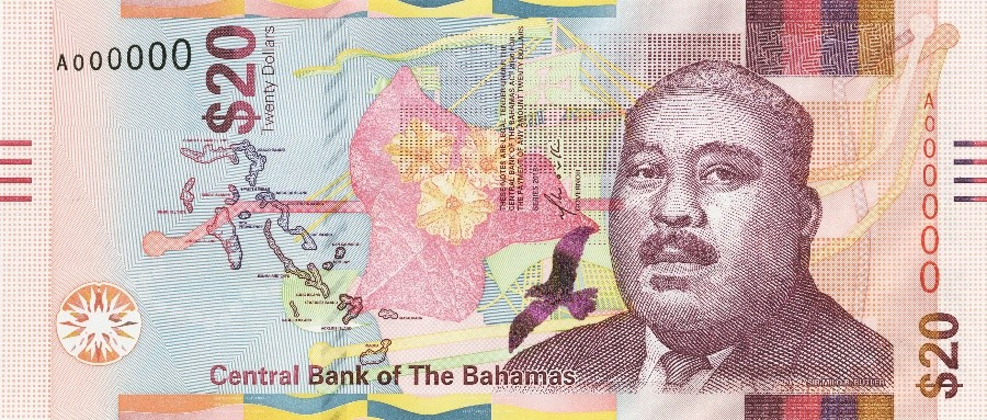 Bahamas 20 Dollars (2018)
