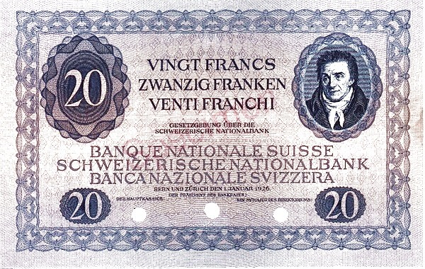 Switzerland 20 Francs (1925-1926)