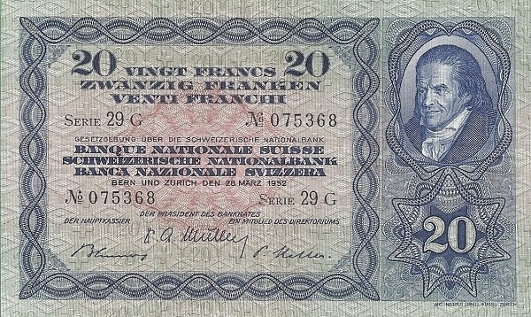 Switzerland 20 Francs (1929-1952)