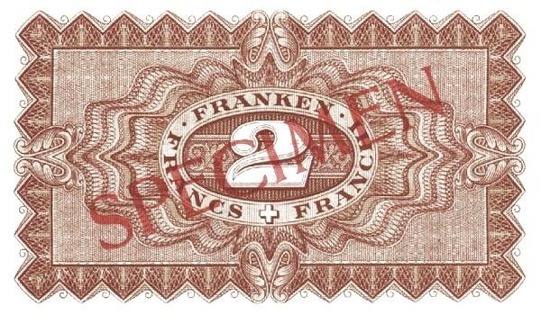 Switzerland 2 Franken (1938)