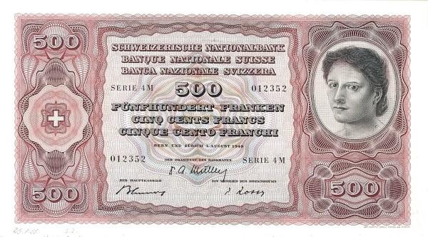 Switzerland 500 Franken (1941-1950)