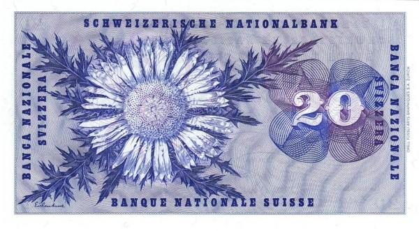 Switzerland 20 Franken (1954-1977)