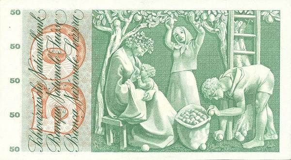 Switzerland 50 Franken (1955-1958)
