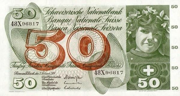 Switzerland 50 Franken (1961-1974)