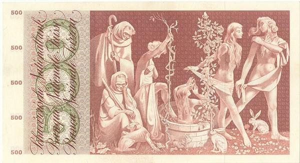 Switzerland 500 Franken (1957-1958)