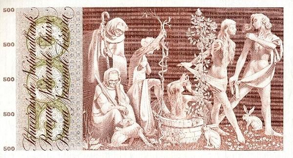 Switzerland 500 Franken (1961-1974)