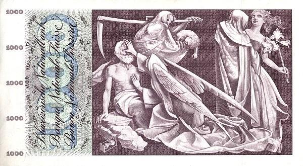 Switzerland 1000 Franken (1954-1977)