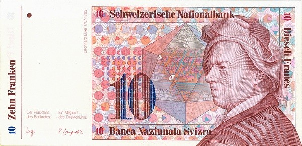 Switzerland 10 Franken (1983-1985)