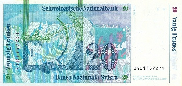 Switzerland 20 Franken (1983-1985)