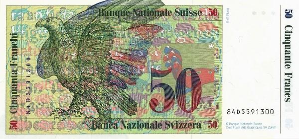 Switzerland 50 Franken (1983-1985)