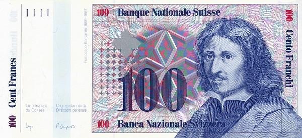 Switzerland 100 Franken (1983-1985)