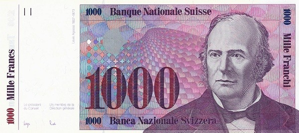 Switzerland 1000 Franken (1983-1985)