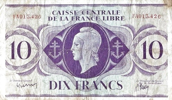 Saint Pierre & Miquelon 10 Francs (1941)