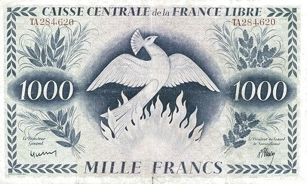 Saint Pierre & Miquelon 1000 Francs (1941)