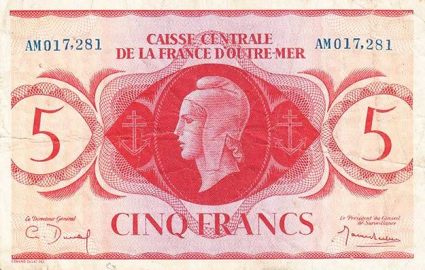 Saint Pierre & Miquelon 5 Francs (1944)