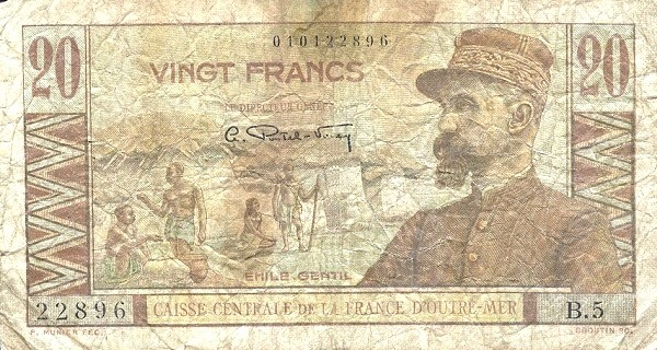Saint Pierre & Miquelon 20 Francs (1947)