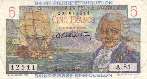 Saint Pierre & Miquelon 5 Francs (1950-1960)